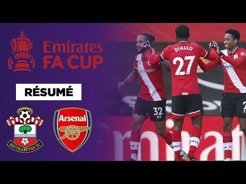 Résumé : Arsenal prend la porte en Cup à Southampton