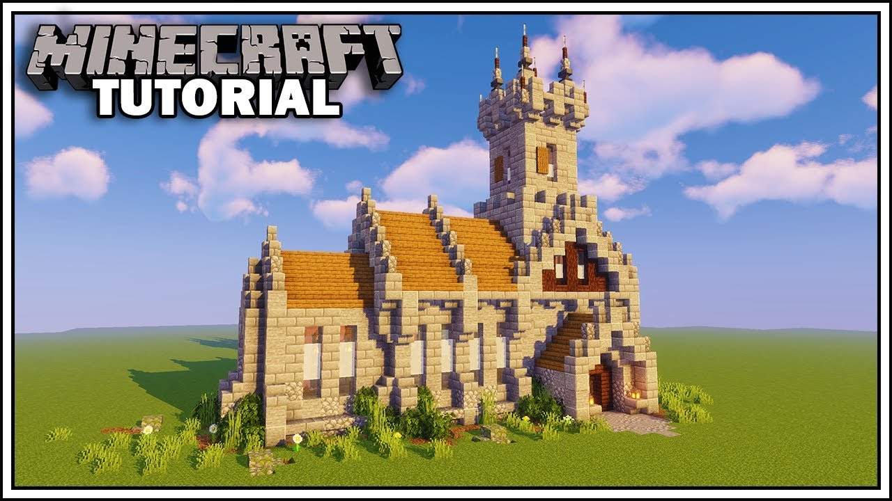Minecraft Medieval Church Tutorial How To Build Youtube