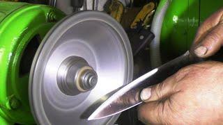 гаражная заточка ножа до бритвенной остроты.