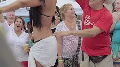 Guy grabs and touches bikini contestants all over - HD version