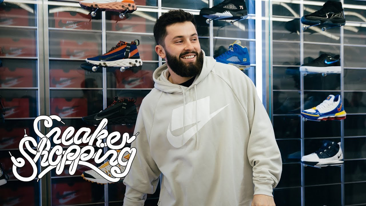 promo code 7cfc0 8d35b Baker Mayfield Goes Sneaker Shopping With Complex