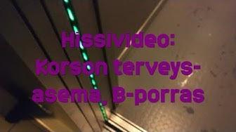 Hissivideo: Korson terveysasema, Vantaa, B-porras - 1997 Schindler (geneerinen)