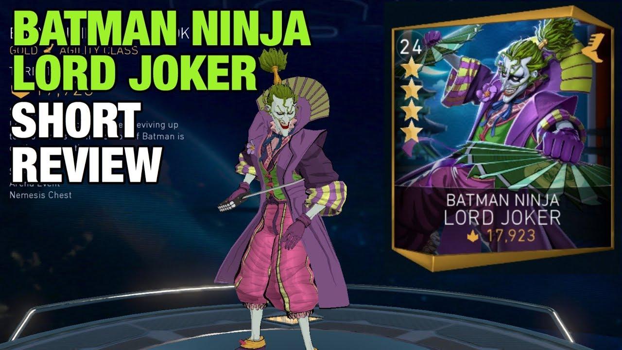 Injustice 2 Mobile Batman Ninja Lord Joker Short Review Gameplay Youtube