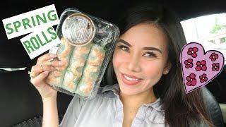 Spring Rolls Mukbang | English Mukbang | Eating Show  | Asian Food Mukbang | Vietnamese Food Mukbang