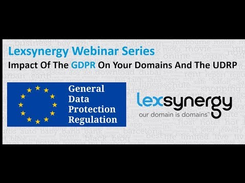 Webinar: GDPR Impact On Your Domains And Enforecement