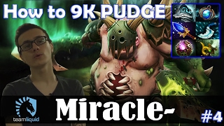 Miracle - Pudge Roaming | How to 9K PUDGE | Dota 2 Pro MMR  Gameplay #4