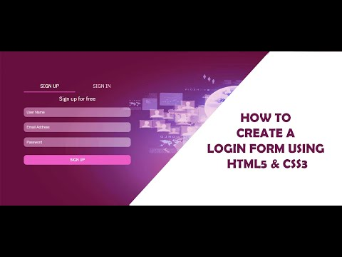 How To Create Login Form In HTML And CSS