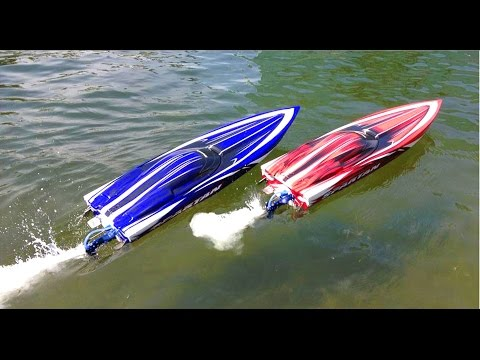 RC ADVENTURES  Duelling Traxxas Spartan Speed Boats and Two DJi Phantoms taking Aerial Footage