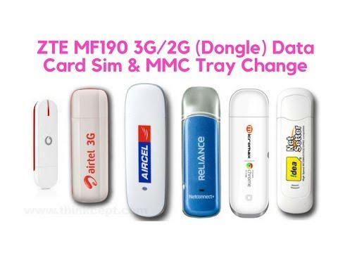 ZTE MF190 3G/2G (Dongle) Data Card Sim & MMC Tray Change.....