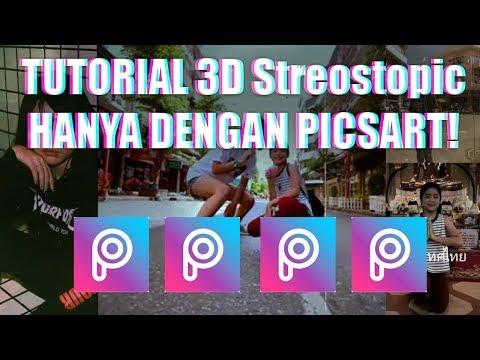 Cara Membuat 3D Streoscopic Seperti Creamypandaxx HANYA DENGAN PicsArt - TRIK BARU PICSART KEKINIAN