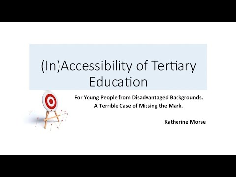 Accessibility of Tertiary Education