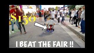 I WON A HOVERBOARD CART AT THE FAIR !!