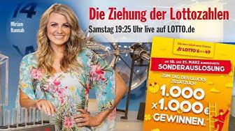 Live - Die Ziehung der Lottozahlen am 21.03.2020