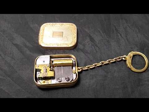 Reuge mini music box key chain