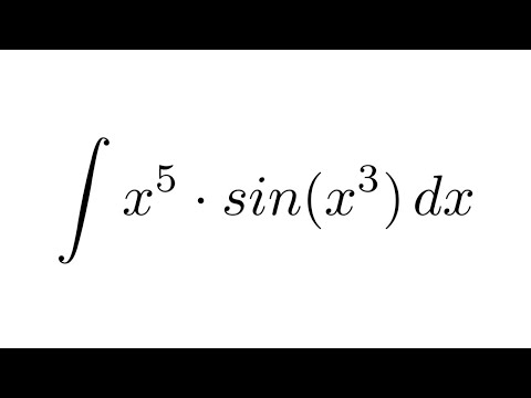 Integral of (x^5)sin(x^3) (substitution + by parts)