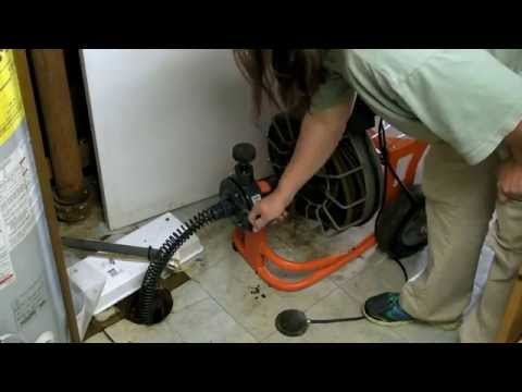 How To Unclog Your Main Line Drain - Easy and Cheap Plumbing Fix. Snake Your Drain