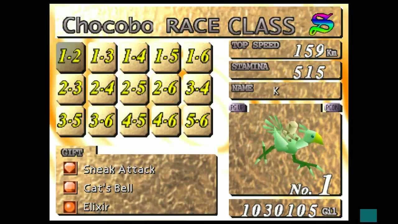 Ff7 chocobo racing prizes ff7