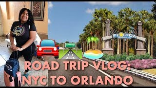 Road Trip: NYC to Orlando! | FIRST VLOG EVER.