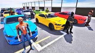 HOMEM ARANHA BATMAN HOMEM DE FERRO E CARROS DESAFIO COM SUPER HEROIS - IR GAMES