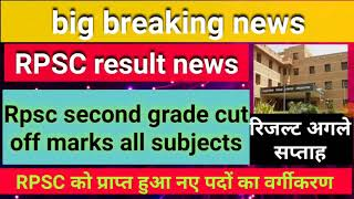 #Rpsc #second #grade #result #news।।Rpsc second grade #cutoff #marks #all #subjects।।