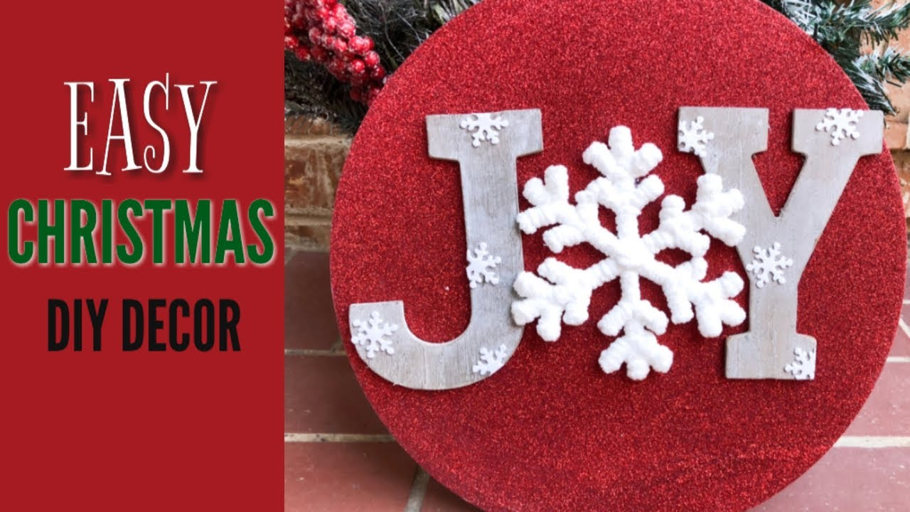 EASY CHRISTMAS CRAFT | DIY CHRISTMAS DECORATIONS| 🎄 JOY SIGN ...