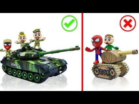 SUPERHERO BABY BUILDS MILITARY TANK 💖 Stop Motion Cartoons Animation