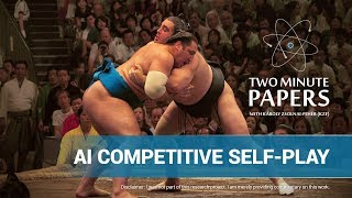 AI Competitive Self-Play | Two Minute Papers #205