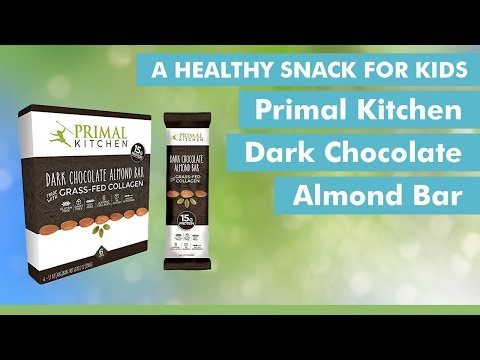 primal kitchen dark chocolate almond bars: macros - youtube