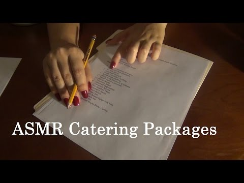 ASMR CATERING PACKAGE SOFT SPOKEN