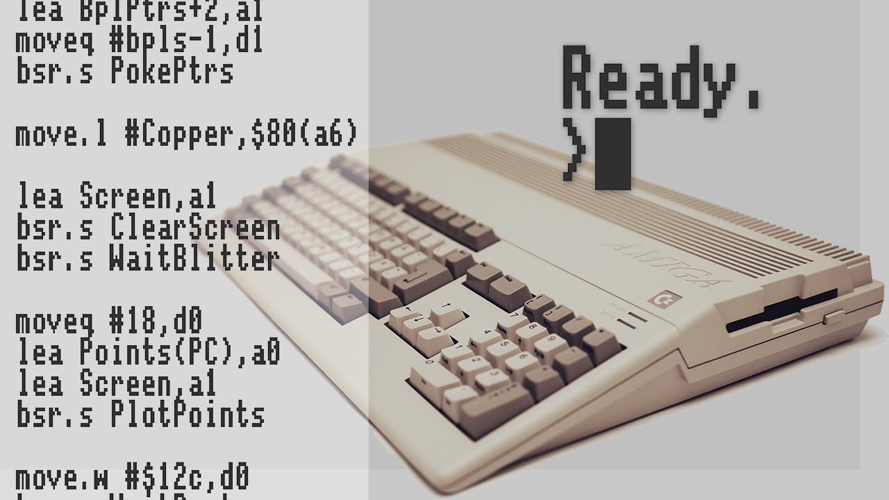 Amiga Hardware Programming 1 - Use the Assembler and wait for left click