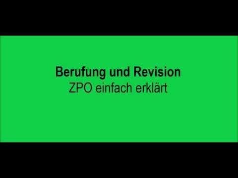 Berufung und Revision