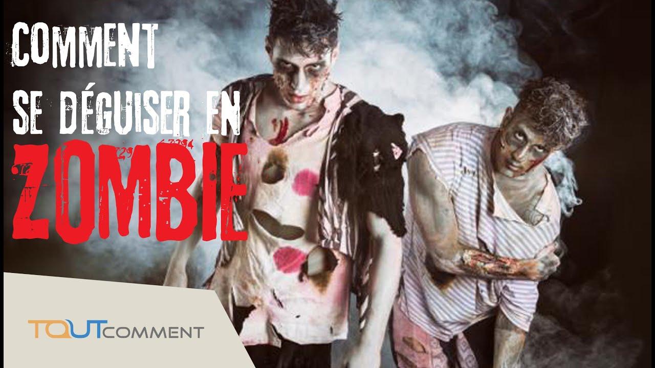 Comment se déguiser en zombie (maquillage et déguisement halloween) - YouTube