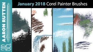 January 2018 New Corel Painter Brushes