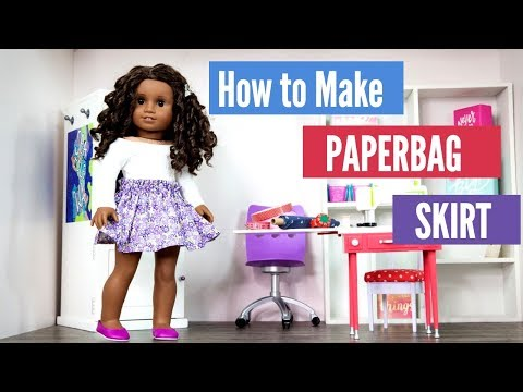 How to Make a Paperbag Skirt  for your 18 inch doll such as American Girl doll