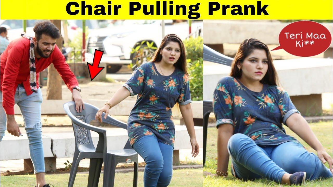 Chair Pulling Prank On Girl   Prank in Pakistan   @Hit Pranks