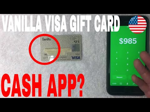 Can You Use Vanilla Visa Gift Card On Cash App Youtube