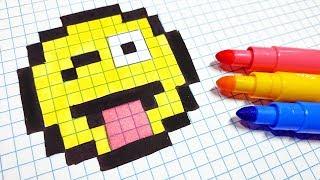 Handmade Pixel Art - How To Draw a Emoji #pixelart