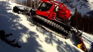snow grooming sunshine village banff alberta canada