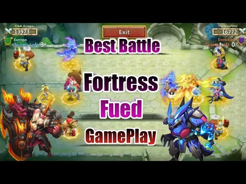 Fortress Fued | Evolution | Rank 4 Guild | Beast Teams | Best Battle | Castle Clash