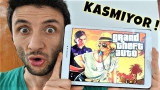 Tablette GTA Oynadım !! Kasmıyor İnanılmaz !!