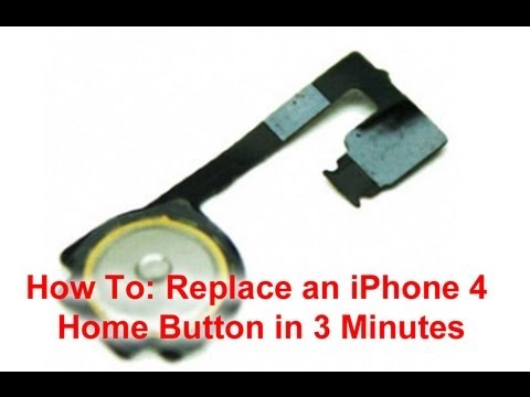 how to add home button on iphone iphone 4 home button replacement in 3 minutes 19821