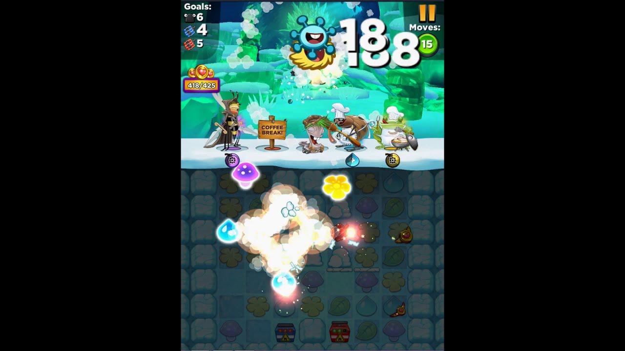 Best Fiends Hero Level 492 Dynamite Den No Bonus Youtube