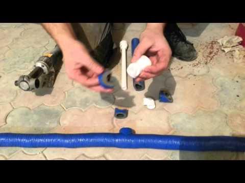 Сварка (пайка) полипропилена (ПП) плюс теплоизоляция.