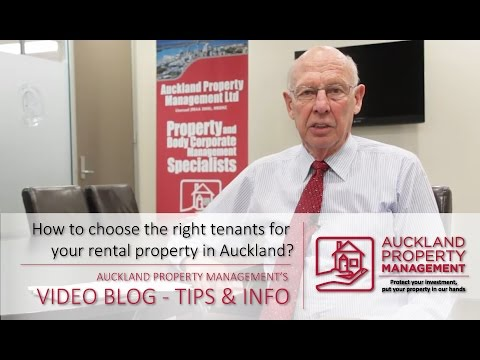 How to choose the right tenants by Auckland Property Management