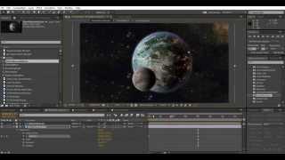 الرسوم المتحركة الكوكب في بعد الآثار: 05 خلق وهمية تأثير 3d مع precomps