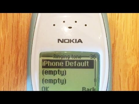 Classic Nokia playing iPhone ringtone!