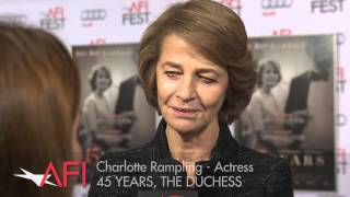 Charlotte Rampling on the Red Carpet at AFI FEST presented by Audi