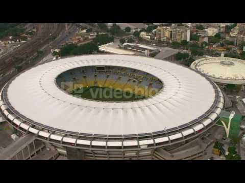 close aeriel view of maracan stadium rio de janeiro brazil ek3ly8xy
