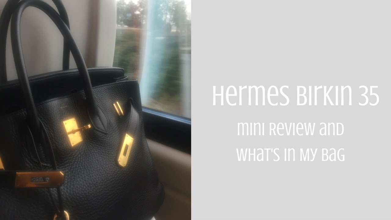c95bb25cf2fe Hermes Birkin 35 - Mini Review and What s In My Bag - YouTube