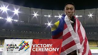 Athletics Men's 100m Victory Ceremony | 29th SEA Games 2017